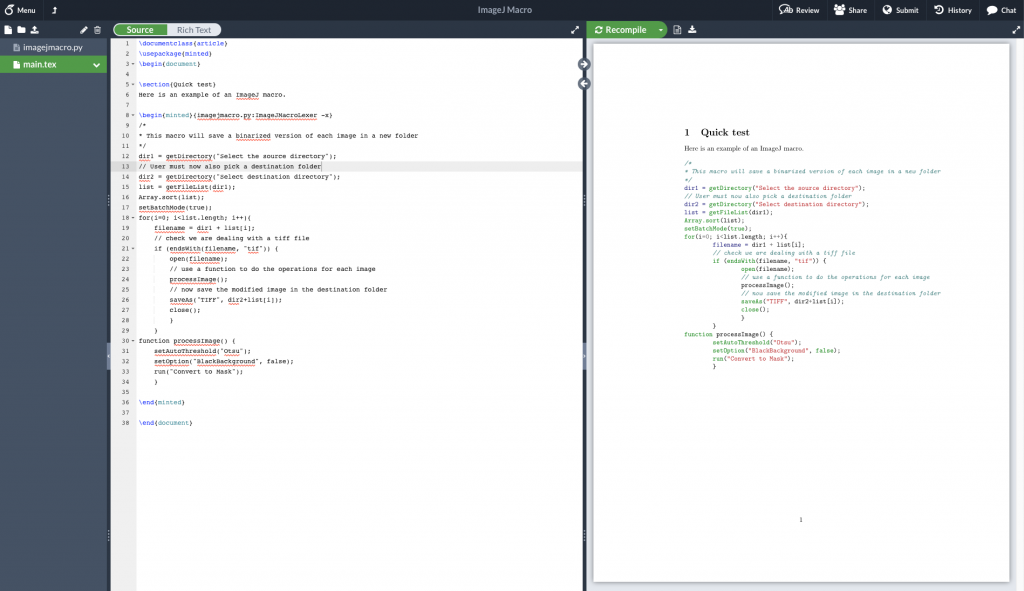 New Lexicon: how to add a custom minted lexer in Overleaf – quantixed